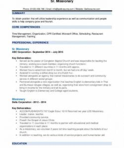 missionary resume samples  qwikresume worship leader job description template pdf