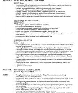 retail resume examples  louiesportsmouth retail job description template