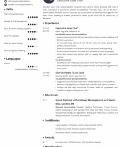 sous chef resume sample guide & 20 examples sous chef job description template