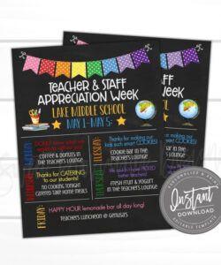 virtual teacher appreciation week chalkboard theme teacher appreciation flyer template