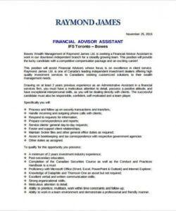 7 financial advisor job description templates  free finance manager job description template pdf