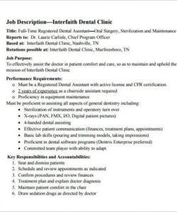 9 dental assistant job description templates  free physician assistant job description template pdf