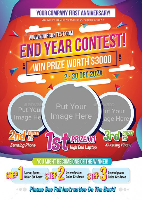 contest flyer by shamcanggih  graphicriver sales contest flyer template doc