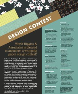 free 072015  wha wrapping paper contest flyer  worth higgins sales contest flyer template