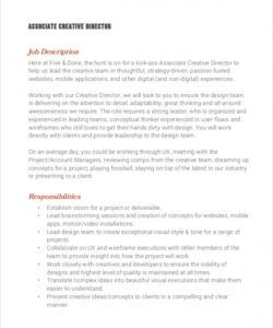 free 8 creative director job description samples in pdf executive director job description template