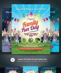 free family fun day flyer  corporate identity template family day flyer template