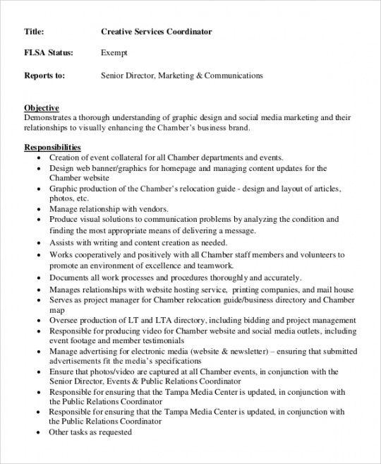 free free 8 creative director job description samples in pdf executive director job description template