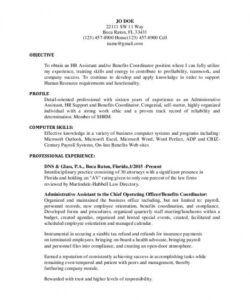 free hr administrative assistant resume download  shrm senior pastor job description template and sample