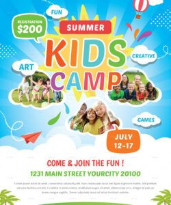 free kids summer camp flyer by creativestoree  graphicriver dance camp flyer template