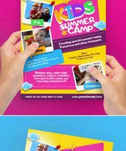 free kids summer camp flyer poster template 200134  flyers day camp flyer template and sample