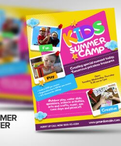 free kids summer camp flyer poster template 200134  flyers day camp flyer template doc