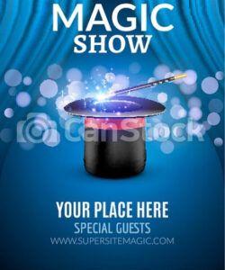 free magic show poster design template magic show flyer design magic show flyer template and sample