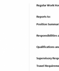free ministry descriptions providing clear guidelines  miller senior pastor job description template doc