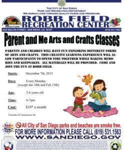 free parent and me arts and crafts classes at robb field parent workshop flyer template and sample