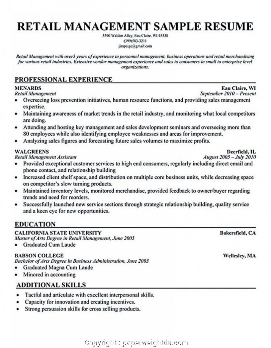 free simple hardware store manager resume retail store resume retail manager job description template