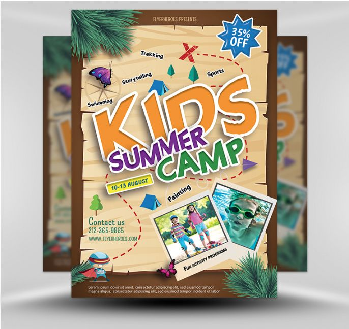 free summer camp flyer 4  flyerheroes day camp flyer template