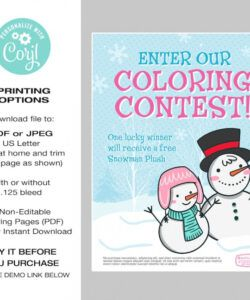 free winter flyer template coloring contest flyer template  etsy sales contest flyer template and sample