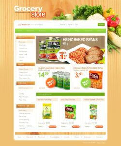 grocery store website template 25384 by wt  website grocery store flyer template doc