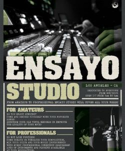 music studio flyer template by thats design store music school flyer template