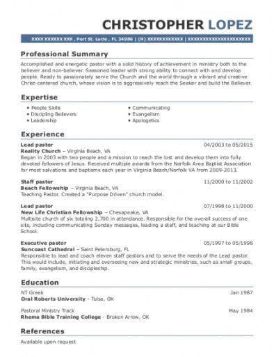 pastoral resumes  pastor resume template guide 20 senior pastor job description template and sample