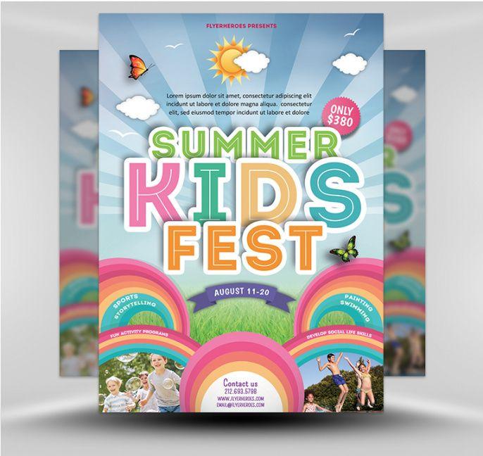summer camp flyer 5  flyerheroes day camp flyer template