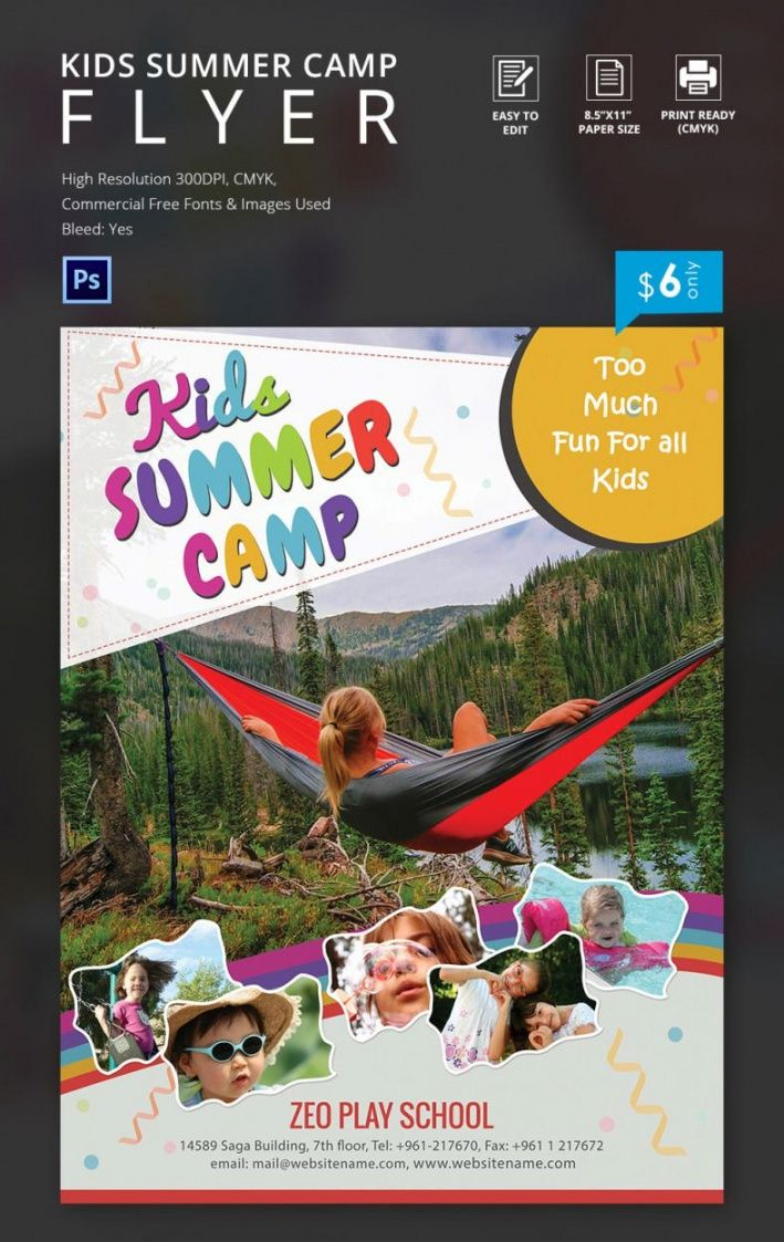 summer camp flyer templates  47 free jpg psd esi day camp flyer template and sample