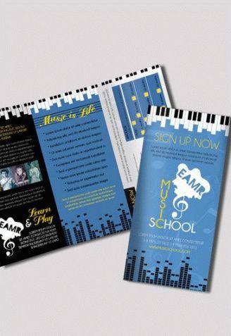 trifold brochure for music school  by elegantflyer music school flyer template pdf